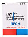 삼성 S3 I9300를위한 NFC와 3.7의 3200mah 리튬 이온 배터리