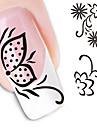 1 pcs Цветы / Абстракция / Мода Наклейка для переноса воды / 3D-стикеры для ногтей Повседневные
