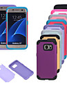 For Samsung Galaxy S7 Edge Shockproof Case Back Cover Case Solid Color PC Samsung S7 edge / S7