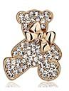 Жен. Медведи В форме банта Стразы / Серебрянное покрытие / Позолота - Мода В форме банта / Животный принт Золотой / Серебряный Брошь