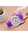 여성용 패션 시계 캐쥬얼 시계 석영 Plastic 밴드 블랙 화이트 블루 레드 그린 핑크 퍼플