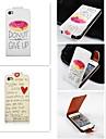 Pour Coque iPhone 5 Clapet Coque Coque Integrale Coque Mot / Phrase Dur Cuir PU iPhone SE/5s/5