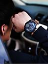 Homme Montre Bracelet Quartz Calendrier Etanche Cuir Bande Luxe Noir Marron