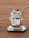 Cartoon Robot Shape Tea Strainer Tea Infuser with Mini Plate Stainless Steel
