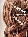 Femme Alliage Pince a Cheveux Argent Dore
