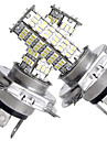 2 in 1 h4 120 SMD valkoinen LED-valot 450lm