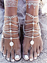 Layered Anklet Barefoot Sandals - Silver Personalized, Unique Design, European Silver For Christmas Gifts / Daily / Casual / Multi Layer