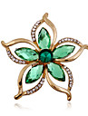 Women\'s Brooches - Rhinestone, Imitation Diamond Flower Luxury, Fashion Brooch Green For Wedding / Party / Special Occasion