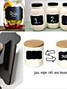 36pcs adesivo della lavagna del gesso delle etichette della lavagna autoadesivo del memo della cucina del vinile