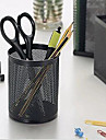 Durable Desk Cylinder Iron Mesh Pen Pot Case Container Holder Office Organiser