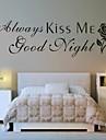 Abstract Romantic Modă Cuvinte & Citate Fantezie Perete Postituri Autocolante perete plane Autocolante de Perete Decorative, Vinil Pagina