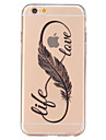 For iPhone 7 Plus Feather Life Pattern TPU Relief Back Cover Case for iPhone 6s 6 Plus