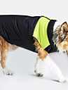 Dog Coat Vest Dog Clothes Keep Warm Windproof Color Block Yellow Green Blue Pink Costume For Pets
