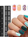 1pcs Diecut Manicure Stencil 3D Nail Acrylic Molds Nail Stamping Template Daily Flower Fashion High Quality