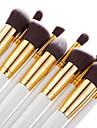 10pcs Make-up pensler Professionel Blush-børste Foundationbørste -jenskyggebørste Concealer-børste Makeupbørstesæt Pudderbørste Bærbar / Rejse / -ko Venlig Træ