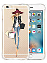 Case For Apple iPhone X iPhone 8 iPhone 6 iPhone 6 Plus Shockproof Transparent Back Cover Sexy Lady Soft Silicone for iPhone X iPhone 8