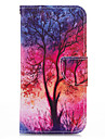 Case For iPhone 5 Apple iPhone 5 Case Card Holder Wallet with Stand Flip Pattern Full Body Cases Tree Hard PU Leather for iPhone SE/5s