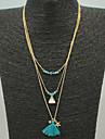 Жен. С кисточками / Бусины Слоистые ожерелья - кисточка Синий Ожерелье Назначение