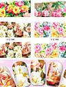 4 pcs Панк / Мода Наклейка для переноса воды / Украшения для ногтей / 3D-стикеры для ногтей Повседневные / ПВХ / Съемная лента для фольги