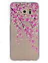 Pour Samsung Galaxy S7 Edge Ultrafine Relief Coque Coque Arriere Coque Fleur PUT pour SamsungS7 Active S7 plus S7 edge plus S7 edge S7 S6