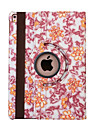 Case For iPad Air 2 with Stand Auto Sleep / Wake Origami 360° Rotation Full Body Cases Flower PU Leather for iPad Air 2