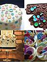 Ferramentas bakeware Silicone Aniversario Bolo / Biscoito / Chocolate Ferramenta de decoracao 1pc