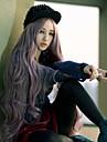 Femme Perruque Synthetique Long Gris Perruque de Cosplay Perruque Deguisement