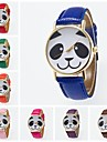 Women\'s Fashion Watch Quartz PU Band Black White Blue Red Orange Brown Green Pink Purple Yellow Khaki Rose