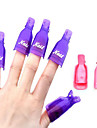 10pcs/set Wearable Acrylic Nail Art Soak Off Cap Clip UV Gel Polish Remover Wrap Tools DIY Beauty Nail Care Tools