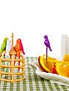 6 kusů kreslený vtip design ovoce vidlička kreativní vaření nářadí domácí dekorace