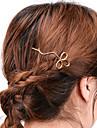 Women\'s Alloy Hair Clip Silver Golden