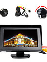 "4.3 ""moniteur couleur LCD + ° avant / cotes / arriere camera parking hd inverse 360"