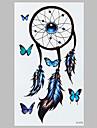 partysu голубой бабочки индийский DreamCatcher моды наклейки водонепроницаемый татуировки
