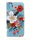 Case For Apple iPhone 5 Case iPhone 6 iPhone 6 Plus Card Holder Wallet with Stand Full Body Cases Flower Hard PU Leather for iPhone 6s