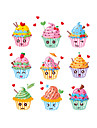 Wall Stickers Wall Decals Style Sun Ice Cream PVC Wall Stickers