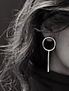 Women\'s Stud Earrings Hoop Earrings - Simple Style European Silver Golden Circle Earrings For Party Daily Casual