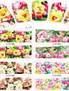 8 Water Transfer Sticker Nail Jewelry Flower Cartoon Fashion Lovely Daily High Quality