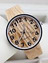 Мужской Женские Для пары Модные часы Уникальный творческий часы Часы Дерево Повседневные часы Кварцевый Материал ГруппаЧерный Белый