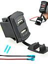iztoss двойной USB автомобильное зарядное устройство цифровой светодиодный дисплей вольтметр с проводами и изоляцией термоусадочной