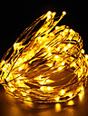10m String Lights 100 LEDs Warm White / White / Red Rechargeable / Waterproof 100-240 V / Dip Led / IP65