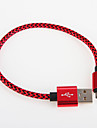 USB 2.0 USB Cable Adapter Braided Cable For Samsung 25cm Aluminum