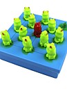 Chess Game Toys Frog Plastic Paper Pieces Gift