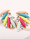 Women\'s Rhinestone Stud Earrings - Fashion / European Rainbow Wings / Feather Earrings For Daily / Casual