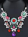 Жен. Заявление ожерелья  -  европейский, Мода Красный, Зеленый, Радужный Ожерелье Назначение Свадьба, Для вечеринок, Повседневные