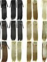 Ленточный шнурок конский хвост зажим для волос в наращивании волос натуральный черный / темно-коричневый / блондин