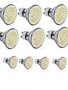 hkv® 3.5w gu10 gu5.3 e27 led projecteur mr16 60smd 2835 300-350 lm blanc chaud froid blanc dc 12 ac 110 / 220v 10 pcs