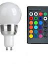 100-200 lm GU10 Ampoules Globe LED A50 1 Perles LED LED Haute Puissance Commandee a Distance RVB 85-265 V / 1 piece