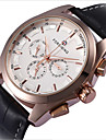 Муж. Часы со скелетом Наручные часы Механические часы Кварцевый С гравировкой Кожа Группа Черный