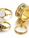 Mulheres Anel de declaracao / Anel Multidedos - Vintage, Fashion Tamanho Unico Prata / Dourado Para Casamento / Festa / Diario / Cristal