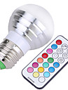 E26/E27 LED Globe Bulbs A50 4 SMD 300-450 lm Cold White RGB K Dimmable Remote-Controlled Decorative AC 85-265 AC 220-240 AC 110-130 V